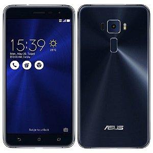 "Pelicula Traseira Asus Zenfone 3 5.5"" Polegadas ZE552 Fibra de Carbono"