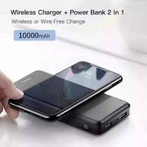 Bateria Portátil Externa Sem Fio Wireless 10000mah Powerbank