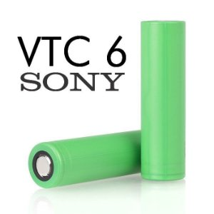 Bateria (18650) 3000mAh VTC6 Flat Top 30A High-Drain - Sony