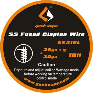 Fio SS316L Fused Clapton Wire - Geek Vape