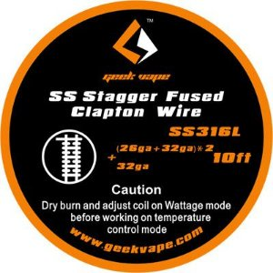 Fio SS316L Stagger Fused Clapton Wire - Geek Vape