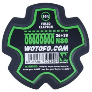 Fio Fused Clapton Wire - 6 Metros / 26+38 - Wotofo