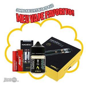 Combo Black com Nunchaku Kit + 1 Bateria + Pack c/ 4 Bobinas + Líquido Evo 60ml