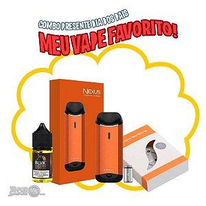 Combo Cuban com Nexus Kit POD System + Pack c/ 5 POD Reposição + Líquido Cuban Cigar SaltNic 30ml