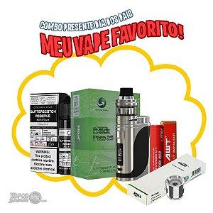 Combo Silver com Kit iStick Pico 25 85W - Eleaf + Bateria + Pack c/ 5 Bobinas + Líquido Basix Series - Butterscotch Reserve - 60ml