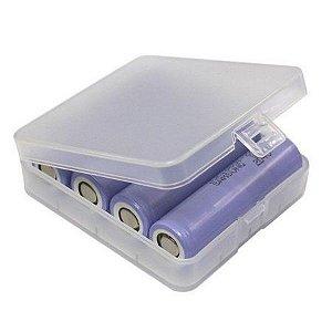 Capa p/ 4x Baterias 18650 ou 2x Baterias 26650