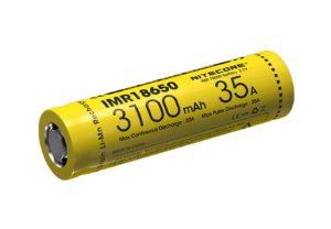 Bateria 18650 Li-Ion 3.6V 3100mAh High Drain 35A Flat Top - Nitecore