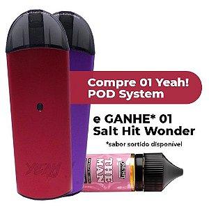 Pod System Yeah 500mAh + Líquido Salt 35mg [Grátis]