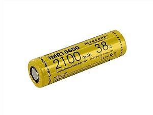 Bateria 18650 Li-Ion IMR 3.7V 2100mAh High Drain 38A Flat Top - Nitecore