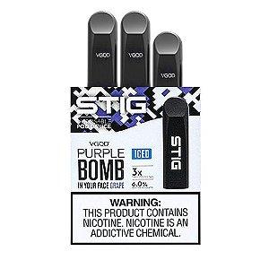 Pod System Descartável (Disposable Pod Device) Stig - Purple Bomb Iced | Vgod