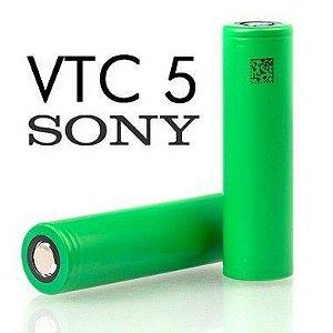 Bateria (18650) 2600mAh VTC5 Flat Top 30A High-Drain - Sony