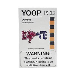 Pod (Cartucho) de Reposição (c/ Líquido) Love66 p/ Yoop & Juul - Yoop