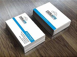Cartão de visita Couchê 250gr 4x4