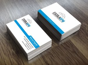 Cartão de visita Couchê 300gr 4x4