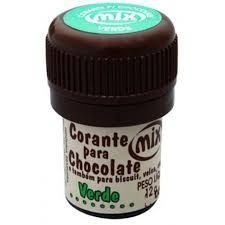 Corante p/ chocolate verde 12grs unid