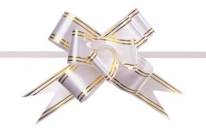 Laço Pronto PP Branco (Mini) c/10 unids
