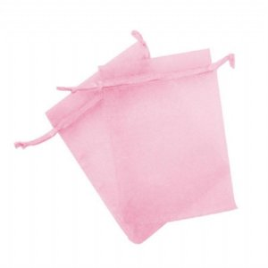Saco organza 15x18 rosa bebe c/10 unids