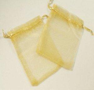 Saco organza 18x40 dourado c/10 unids