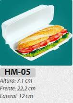 Bandeja Isopor HM 05  (baguete) 10 unids