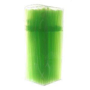Canudo Neon Flexivel Verde c/150 unids