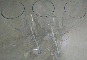 Taça Acrilica 140ml Champanhe Cristal 150 unids