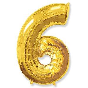 Balão Metalizado nº6 Ouro unid
