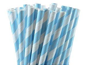 Canudo Papel Azul claro 20 unids