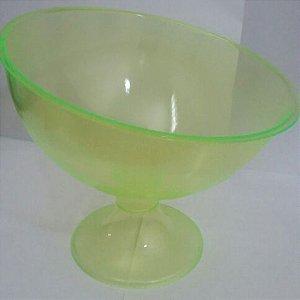 Taça Acrilica Inclinada Grande Cristal Amarela unid (consultar disponibilidade antes da compra)