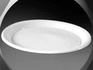 Prato Plastico 21cm Branco Copaza 10 unids