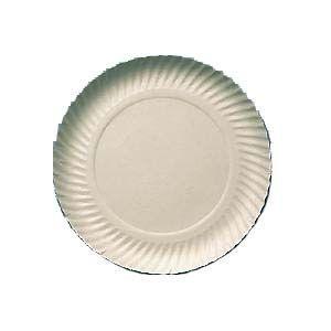 Prato papelão branco nº 07 (27cm) c/ 100