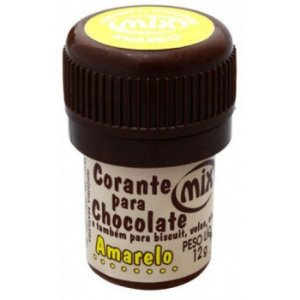 Corante p/ chocolate amarelo 12grs unid
