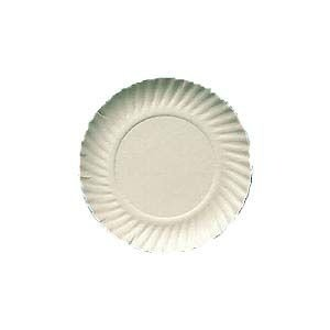 Prato papelão branco nº 05 (23cm) c/ 100