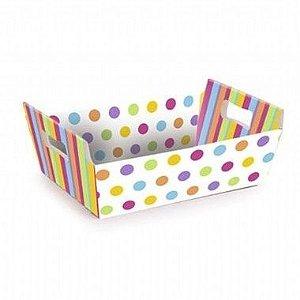 Cesta Papel Cartão Colors P (5,5x8,5x9,5) c/10 unids