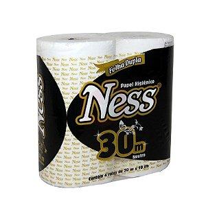 Papel Higiênico Ness fl dupla 30mts 64 rolos