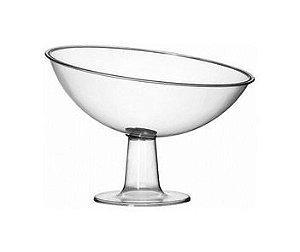 Taça decorativa acrilica inclinada rasa grande unid (consultar disponibilidade antes da compra)