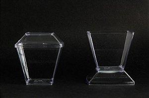 Pote Acrilico 150ML (151) Cristal c/ tampa 10unids