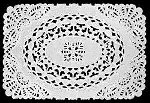 Toalha Rendada Papel Mago  mod 2015 (20x15) 100 unids