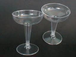 Taça Acrilica 120ml (1/2 lua) champanhe c/250 unids