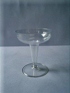 Taça Acrilica 120ml (1/2 lua) champanhe c/5 unids