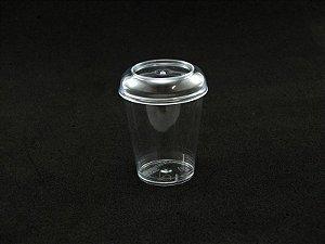 Copo Acrilico 40ml Cristal c/tampa c/10 unids