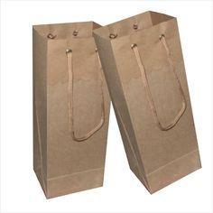 Sacola papel Kraft 35x22x10 (02 garrafas) c/10 unids