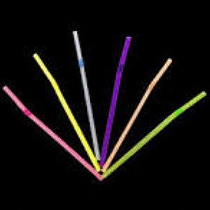 Canudo Neon Flexivel Embalado 100 unids