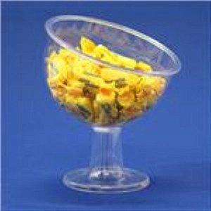Taça decorativa acrilica Inclinada pequena unid