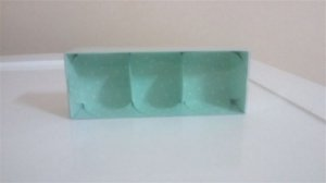Embalagem forma papel cartao petalas verde c/03 unids