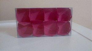 Embalagem forma papel cartao petalas c/06 unids