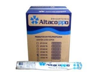 Copo Descartavel 200ML Branco Altacoppo Abnt 2500 unid