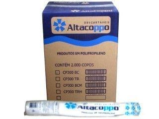 Copo descartavel 300ML Branco Altacoppo 2000 unid