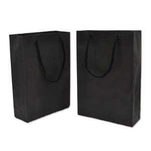 Sacola papel Preta 13,5x13 (P) c/10 unids
