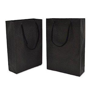 Sacola papel Preta 16x12 (M) c/10 unids