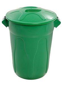 Cesto 100lts Verde Redondo c/ tmp unid